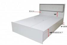 廠家直銷 全新 3尺 / 3尺半/ 4尺 / 4尺半 / 5尺 床架  #MEF-46033672 (包送貨及安裝)