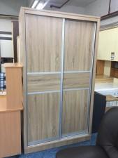 特價 ~ 廠家直銷 全新 4尺半/5尺 白橡木色趟門衣櫃 #EX-03-1361,1524 (包送貨及安裝)
