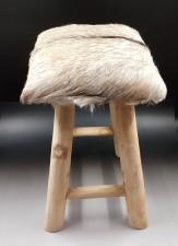 全新 印尼出產 山羊皮木凳 (手工製造) YOG-617