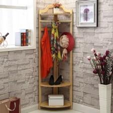 全新 掛衣架 (40*40*175cm) 木/紅棕色 w5030