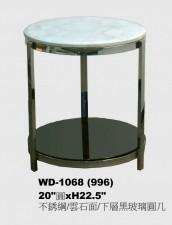 廠家直銷 全新 不锈鋼/雲石面/下層黑玻璃 茶几 20*22.5