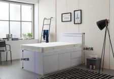 廠家直銷 全新 3尺/4尺/4尺半 雙人床 (六斗床) #B4-3672W(包送貨及安裝)