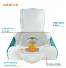 全新多功能學厠椅  (50*33*18CM)白/藍色w1114