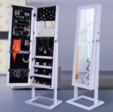 全新儲物鏡子 40*37*148cm (白/木色) w5209