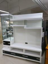 全新 6尺吋 白亮光/胡桃色櫃 組合櫃 (原價$5xxx) #1907023