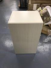 全新陳列品 重細心夾板 有門層櫃 (木紋款), 可用作層櫃或吊櫃 16*14*28