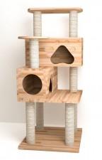 全新貓屋   (60*60*140CM)  木色w4960
