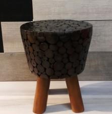 全新 印尼出產 柚木圓凳 (手工製造) YOG-519