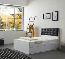 廠家直銷 全新 3尺至4尺半 雙人床 #BA-3672W+C8 (包送貨及安裝)