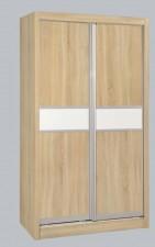 廠家直銷 全新 4尺/4尺半/5尺 白橡木色趟門衣櫃 #ES-03-1200A, 1361A, 1524A (包送貨及安裝)