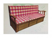 全新實木梳化床  (73*26*33'')  KH203N+C,打開床尺寸:41*68''