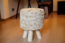全新 印尼出產 拉菲草木凳 (手工製造) YOG-570