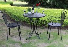 全新桌椅三件套  (70*70*75CM)黑/白色w1249
