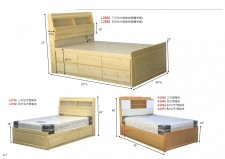 全新 3尺/4尺 單人床/雙層床 (可改尺寸) #L2836 / L2848 / L2736 / L2748 / A1936 / A1948 / A1954 / A1975