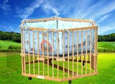 全新嬰兒遊戲圍欄 (116*103*70cm)原木色w1012
