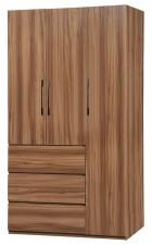廠家直銷  新款掩門衣櫃系列 新款四呎~三門三桶衣櫃 #HH-686-244 (包送貨及安裝)