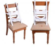 全新嬰兒便攜餐椅 (33*20*43cm)白/灰色w1008