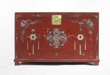 全新中式儲物櫃  (136*45*85CM) 紅色w2564