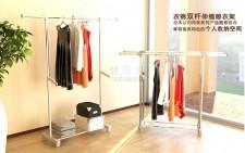 全新室內晾衣架(92、147*43*100、172cm)銀灰色 w076