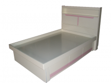 廠家直銷 全新 2尺半/3尺/3尺半/4尺/4尺半/5尺 紫/粉紅色頭箱油壓床 #G-02  (包送貨及安裝)
