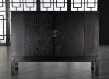 全新中式儲物櫃  (120*40*90cm) 黑色w2642
