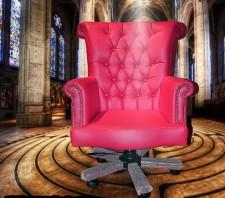 全新大班椅  (80*68*108-116cm) 粉紅/白色w2600