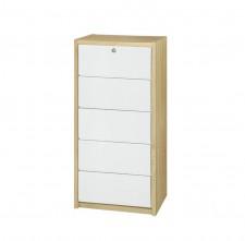 廠家直銷 全新 20吋白橡木+白色五斗櫃 20*16*43