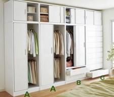 全新衣櫃(3種格式)白色w321