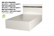 廠家直銷 全新 3尺/4尺 雙人床 #MEF-603148N 低甲醛環保板 (包送貨及安裝)