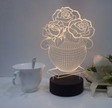全新3D台燈 (10*10*8CM)  4種顏色w1581