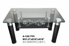 廠家直銷 全新 强化玻璃啞黒凹凸通茶几 31.5*18*18