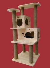 全新貓屋   (60*60*144CM)  木色w4941