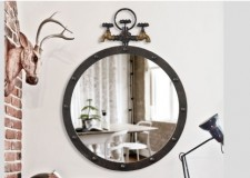 全新 水龍頭牆飾掛鏡 (50*65cm) w5236