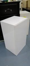 全新陳列品 重細心夾板 有門層櫃 (白色), 可用作層櫃或吊櫃 16*14*28