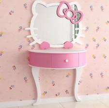 全新 Hello Kitty 掛牆鏡連梳妝台 w5181