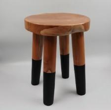 全新 印尼出產 再生柚木圓凳 (手工製造) YOG-226L