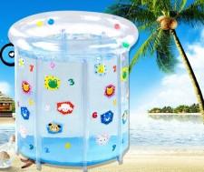 全新寶寶遊泳池 (80*80*78cm)藍色w1025