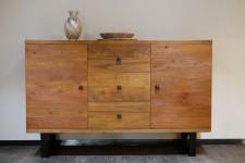 全新 印尼出產 再生木碗碟櫃 (手工製造) NFR-23