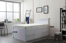 廠家直銷 全新 3尺/4尺/4尺半 雙人床 (1大斗+4小斗)#B5-3672W(包送貨及安裝)