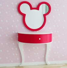 全新 Micky 掛牆鏡連梳妝台 w5182