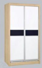 廠家直銷 全新 4尺/4尺半/5尺 白橡木色趟門衣櫃 #ES-03-1200, 1361, 1524 (包送貨及安裝)