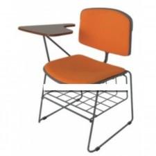 新款彩色膠椅連層架及寫字板(設有軟墊) C-CE079