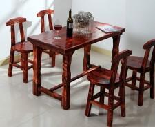 全新實木檯椅   (120*60*75CM)  咖啡色w2083