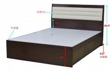 廠家直銷 全新 3尺 / 3尺半/ 4尺 / 4尺半 / 5尺 床架 (平床尾) #MEF-50013672 (包送貨及安裝)