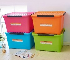 全新儲物箱(7種格式)紅白藍綠色w456