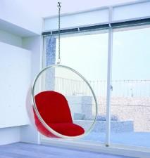 全新泡泡椅  (110*68*110cm)紅/白色w1063