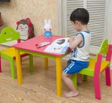 全新兒童檯椅   (60*60*43/30*33*56CM)  2種顏色w4801