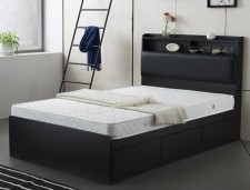 廠家直銷 全新 3尺至4尺半 (黑/白) 雙人床 #BD-36188-72 (包送貨及安裝)