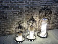 全新歐式鐵藝鳥籠燈  (30*30*70/40*40*140/35*35*110/25*25*60/30*30*90CM)黑色w1117