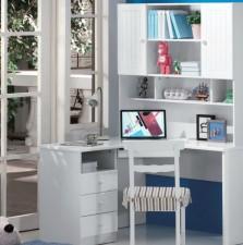全新電腦書檯(120*120*184cm)白\藍色w565